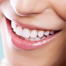 Closeup of healthy beautiful smile