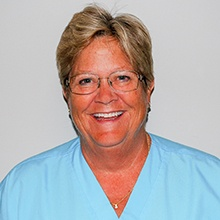 Registerd dental hygienist Lynn Johnson