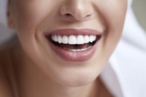person smiling with white teeth