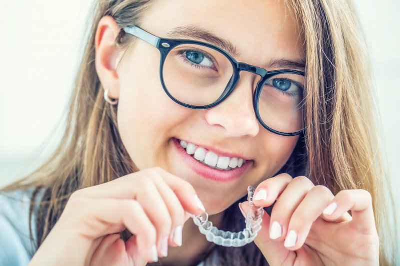 Woman with Invisalign in Virginia Beach