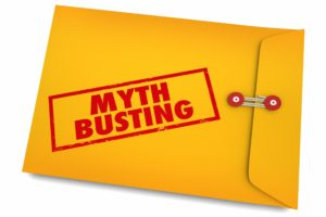 Yellow envelop busting cosmetic dentistry myths.